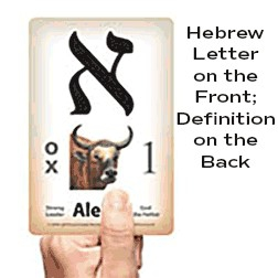 Modern Hebrew letter cards