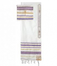 Tallit - Prayer shawl - purple