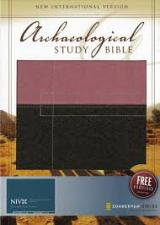 NIV Archaeological Study Bible Italian Duo-Tone  Berry Cr