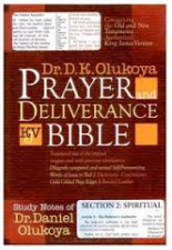 Prayer and Deliverance Bible Burgandy or black leather Index