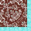 Serviette - 21147 - One Blessing - Blue & Brown