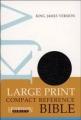 KJV LARGE PRINT COMPACT REF BIBLE BONDED BLACK